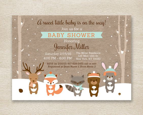 30 Woodland Baby Shower Invites Youd Go Crazy For Momooze