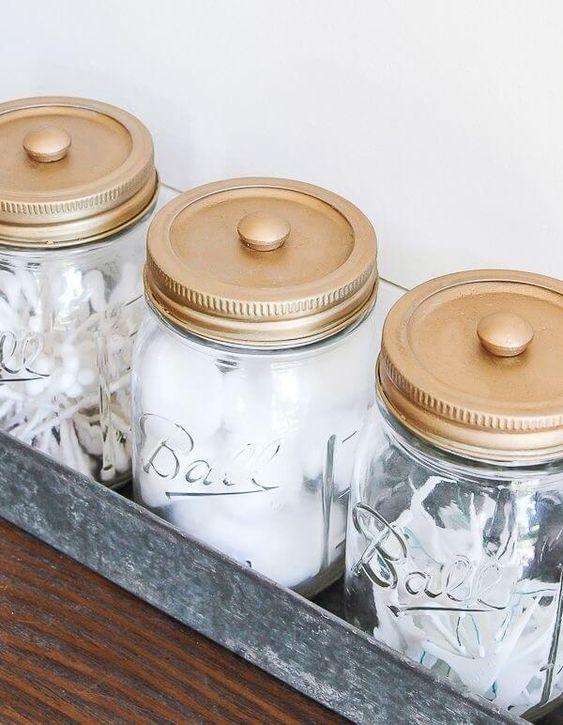 mason jars bathroom