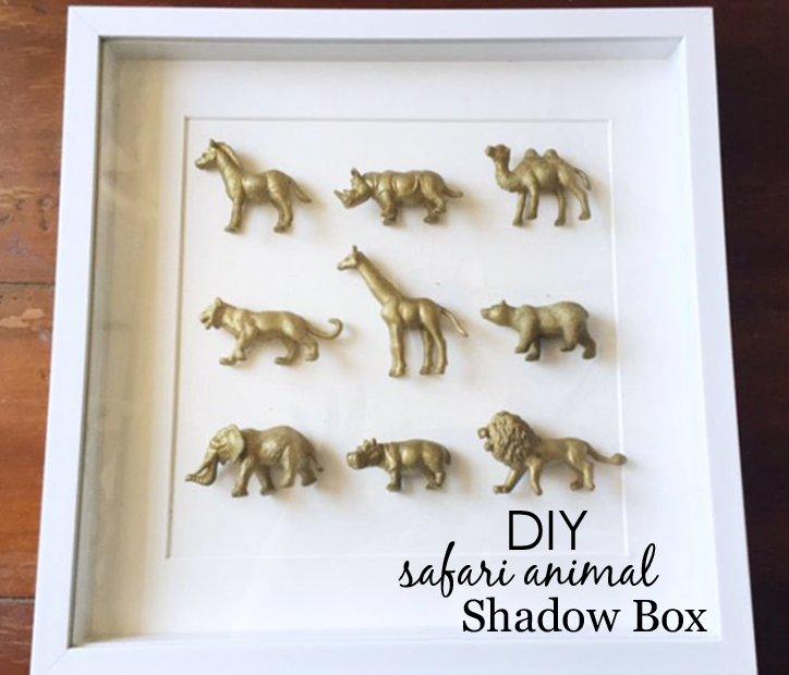 safari-animal-shadow-box