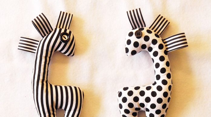 DIY Monochrome Baby Rattle