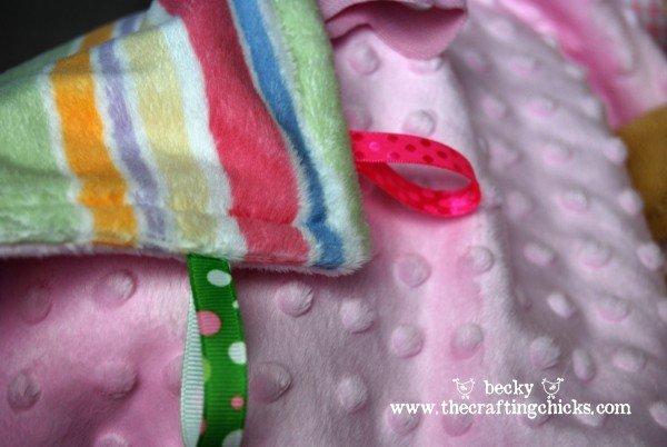 diy taggie blankets