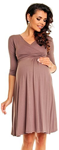 Zeta Ville Womens Maternity Dress Summer Cocktail Skater Baby Shower Dress  282c 0