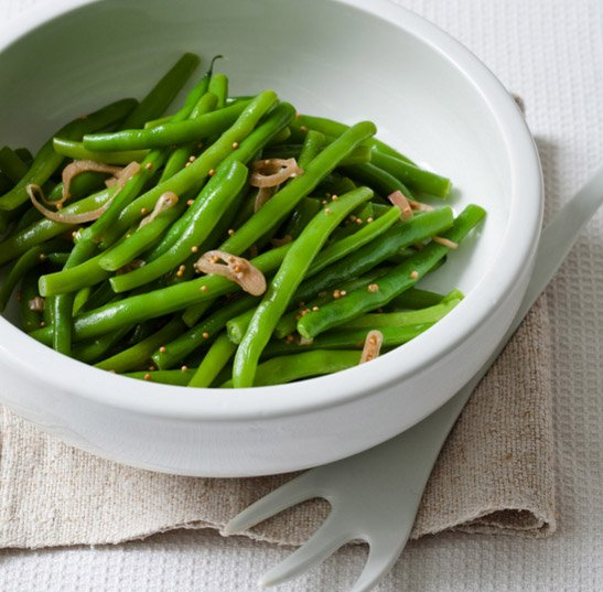 Green Beans with Mustard-Seed Butter