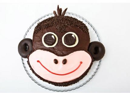 Easy Monkey Birthday Cake