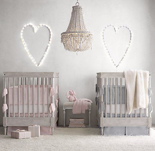 double the fun 15 gorgeous twins nurseries. Black Bedroom Furniture Sets. Home Design Ideas