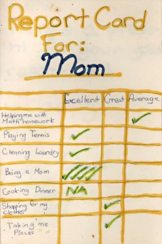 report card for mom