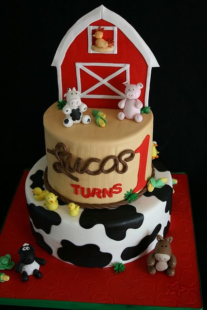 St Year Cake Ideas Boy Farm