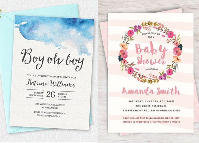 100+ Stunning Printable Baby Shower Invitations | momooze