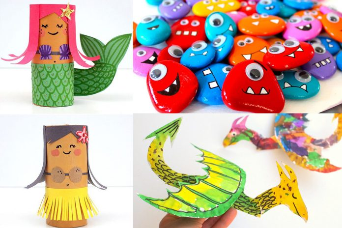50 Creative Crafts To Keep Your Kids Busy