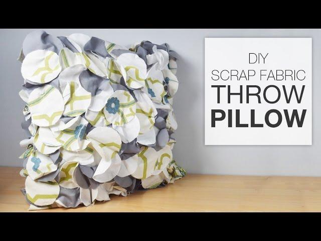 1fabric scrap diy pillows