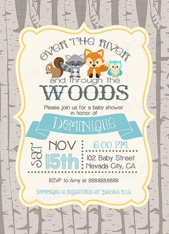 30 Woodland Baby Shower Invites Youd Go Crazy For momooze