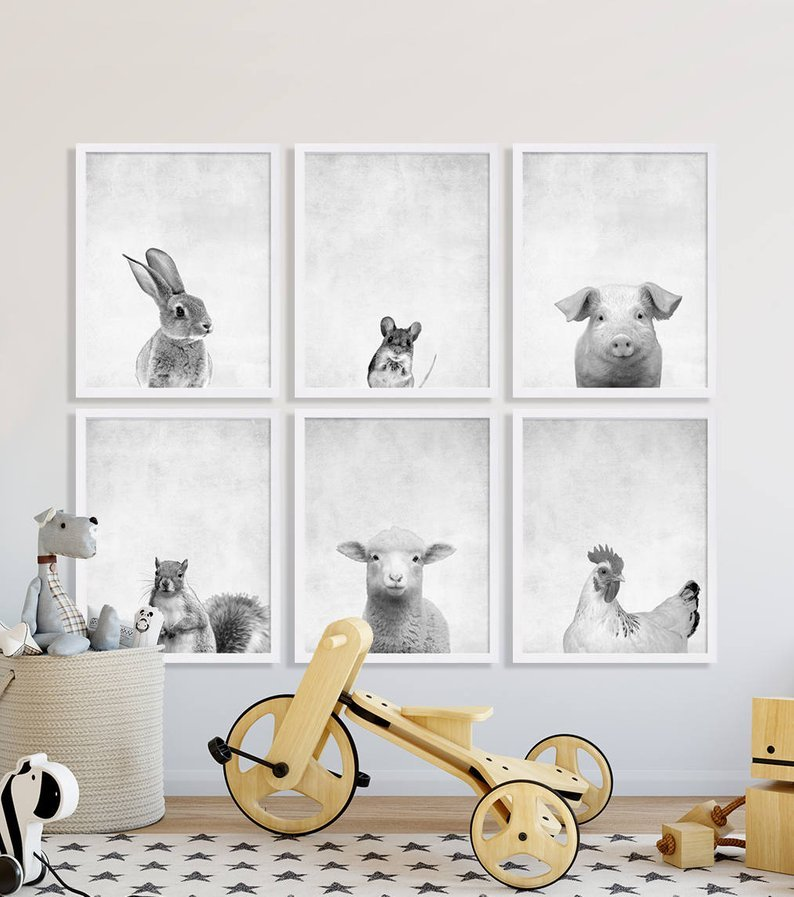 28 coolest playroom decor ideas animal love portraits momooze.com online magazine for moms