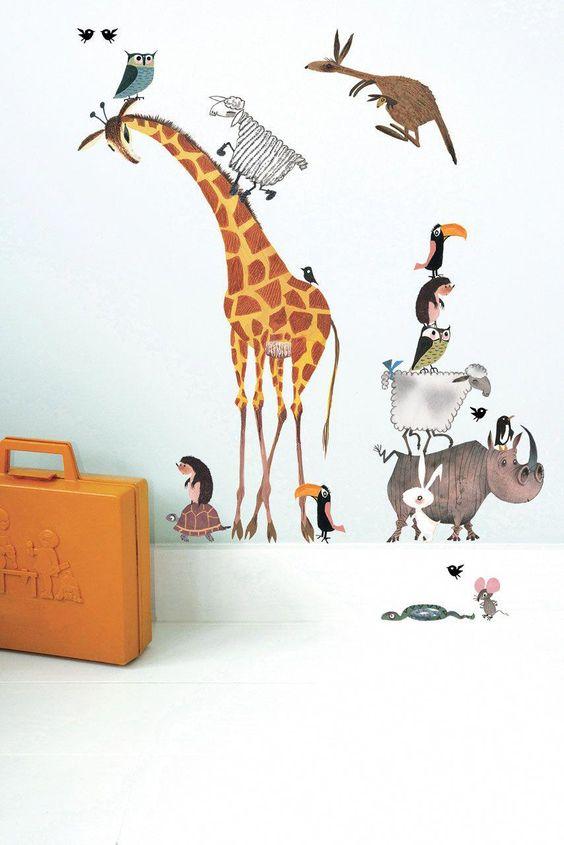 28 coolest playroom decor ideas animal wallpaper design momooze.com online magazine for moms