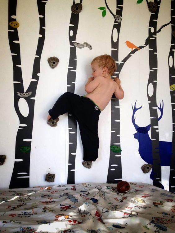 28 coolest playroom decor ideas birch forest hom gym for kids momooze.com online magazine for moms