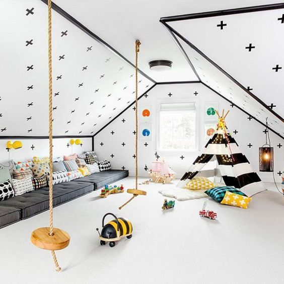 28 coolest playroom decor ideas black and white teepee momooze.com online magazine for moms