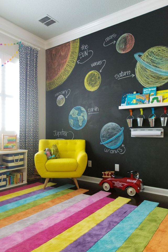 28 coolest playroom decor ideas fun educational chalkboard momooze.com online magazine for moms