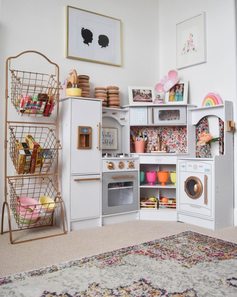 28 coolest playroom decor ideas miniature household play kitchen organization momooze.com online magazine for moms