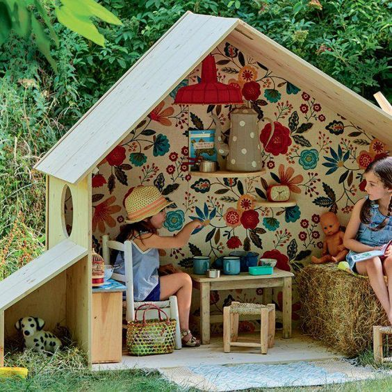28 coolest playroom decor ideas outdoor playhouse momooze.com online magazine for moms
