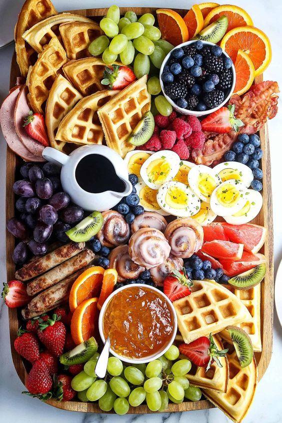 breakfast charcuterie boards