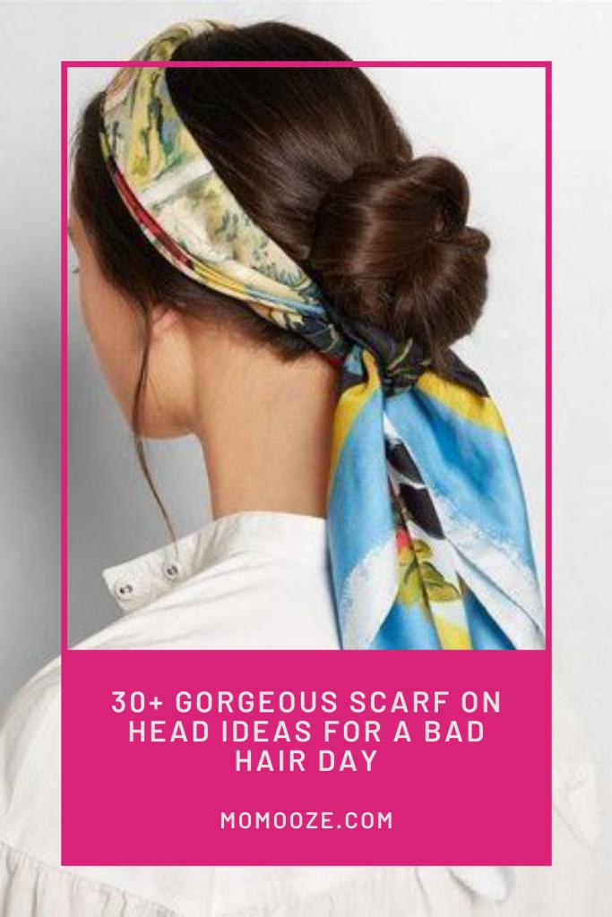 scarf on head