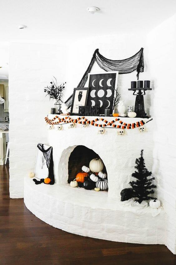 33 + Halloween Mantel Decorating Ideas