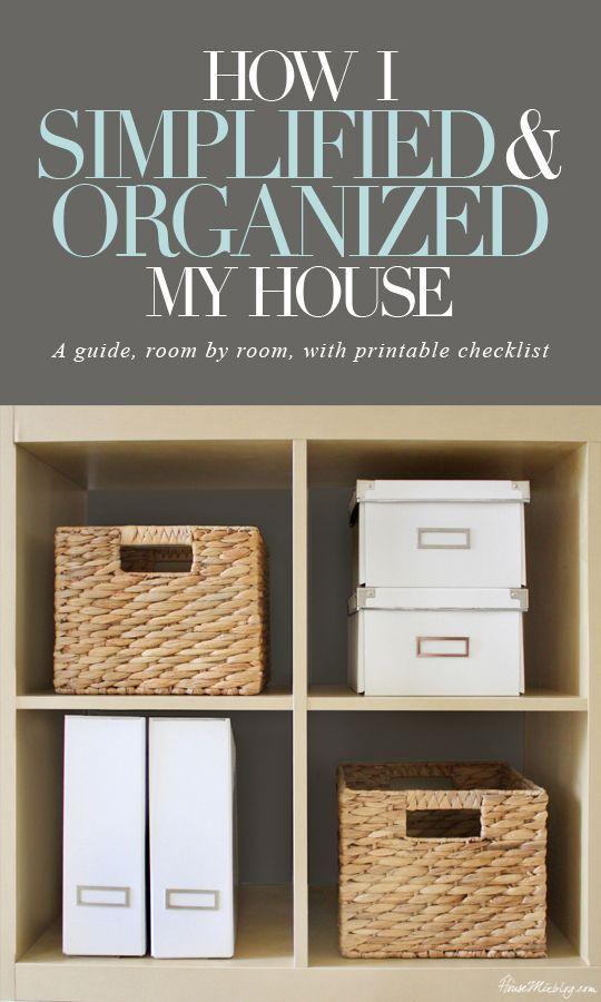 organize house
