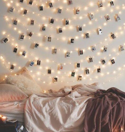 organize photos on a wall