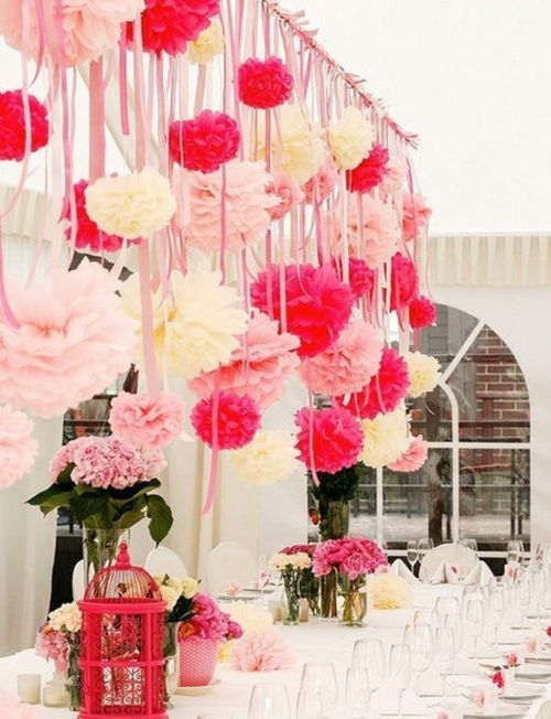 1pink Pom Table Feature