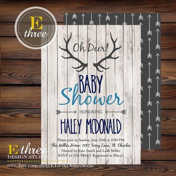 woodland baby shower