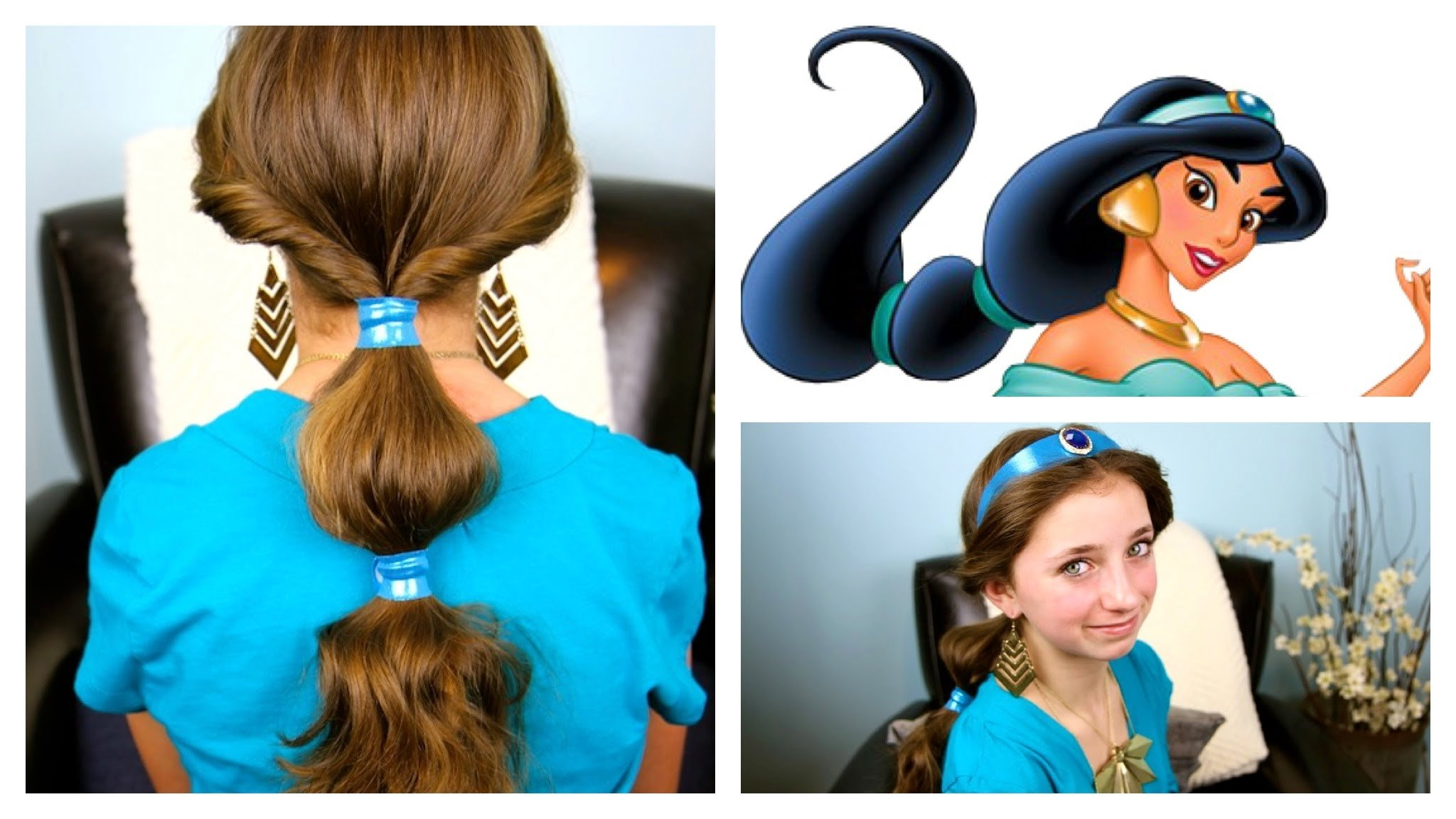14 disney hairstyles for your little girl to channel her inner 8jasmines bubble ponytail baditri Gallery