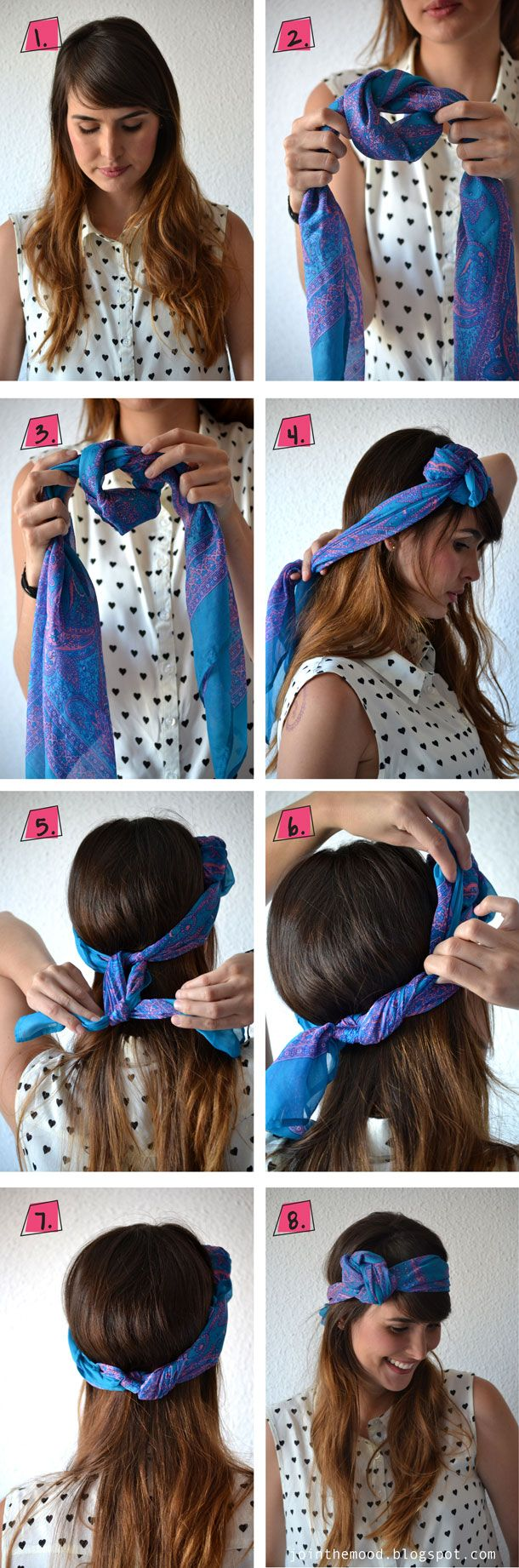 12 Ways to Rock a Head Scarf this Summer  momooze.com