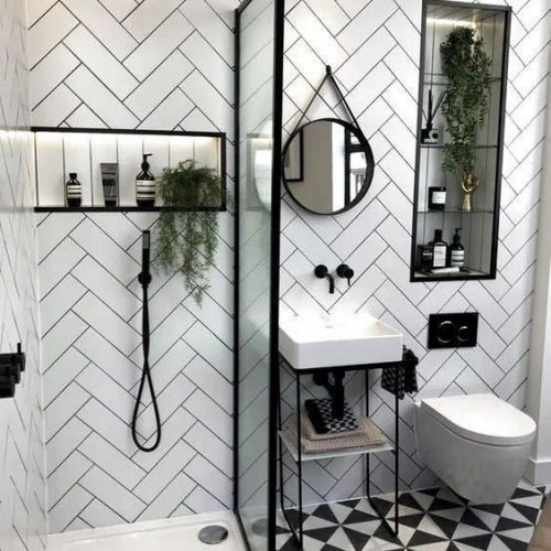 Alternative To A Shower Curtain - How To Dress Up Your Bathroom
