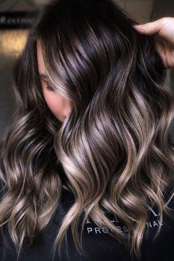 30+ Beautiful Ideas for Balayage on Black Hair