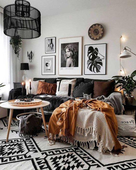 25 Boho Living Room Decor Ideas On A Budget Momooze Com,Elegant Dining Room Sets For Small Spaces