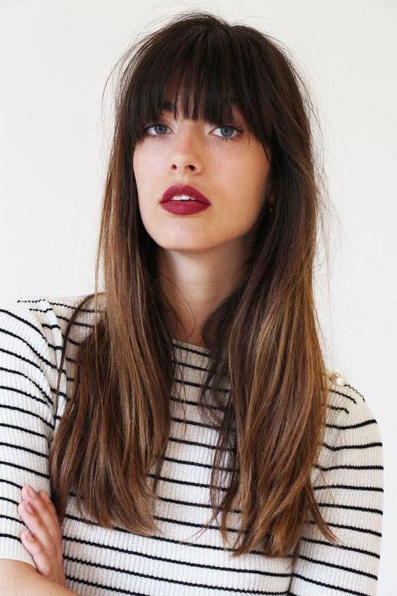 25+ Cute Long Haircuts With Bangs