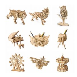 DIY 3D Wooden Animal Building Puzzle