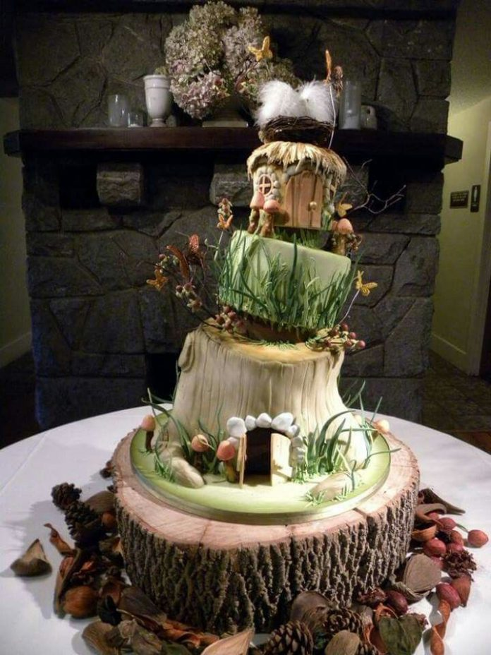 Enchanted Forest Party Theme Ideas for Kids Birthday enchanted forest cake momooze.com online magazine for moms