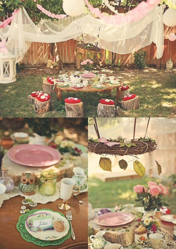 Enchanted Forest Party Theme Ideas for Kids Birthday outdoor picnic momooze.com online magazine for moms