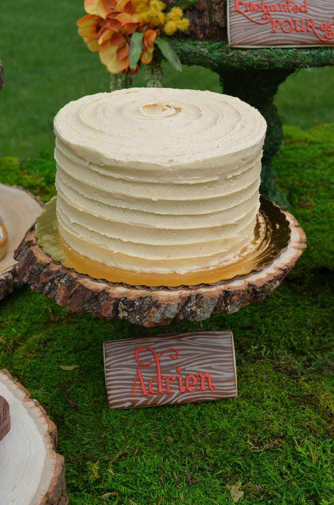 Enchanted Forest Party Theme Ideas for Kids Birthday white chocolate bday cake momooze.com online magazine for moms