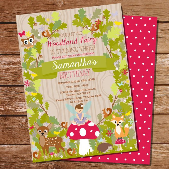 Enchanted Forest Party Theme Ideas for Kids Birthday woodland invitation momooze.com online magazine for moms
