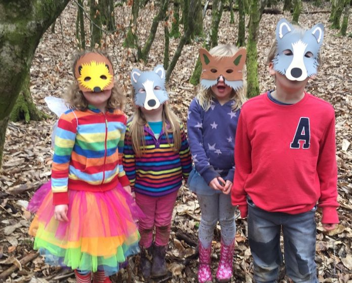 Enchanted Forest Party Theme Ideas for Kids Birthday woodland masks momooze.com online magazine for moms