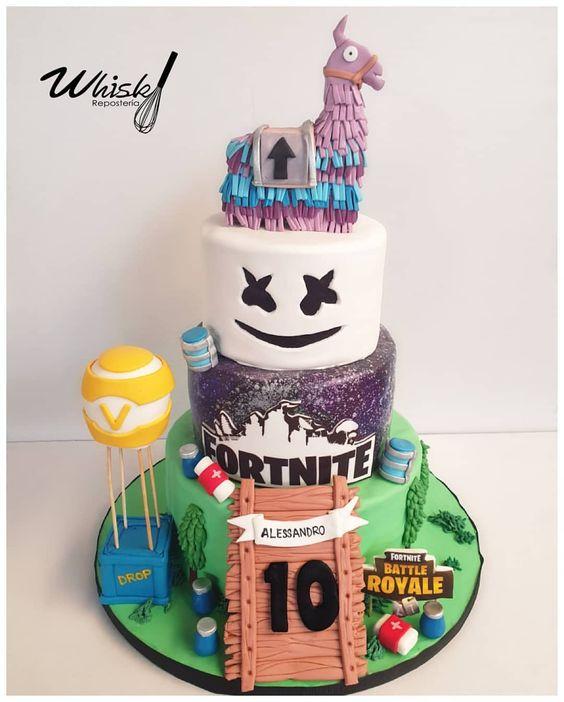 Fortnite-Birthday-Party-cake
