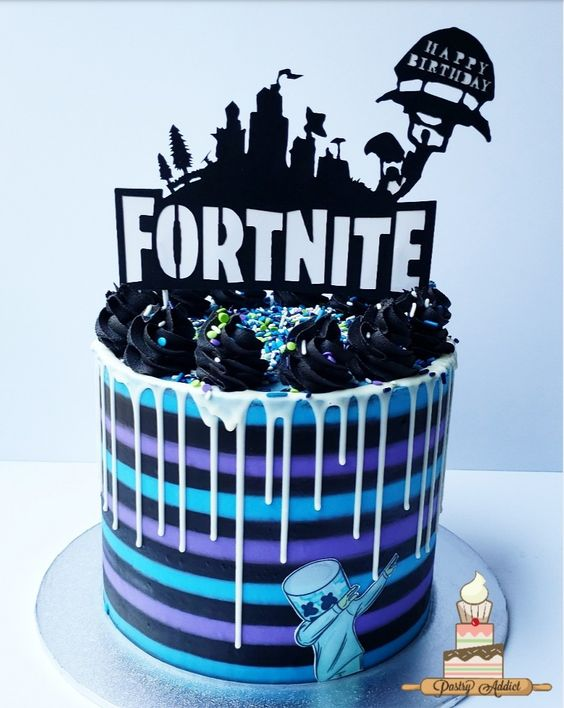 Fortnite-Birthday-Party-cool-cake
