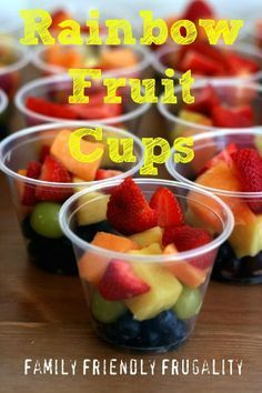 Fruit Rainbow Cups