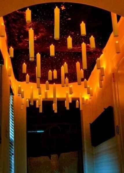 Harry Potter inspired kids bedroom enchanted ceiling candles momooze.com online magazine for moms