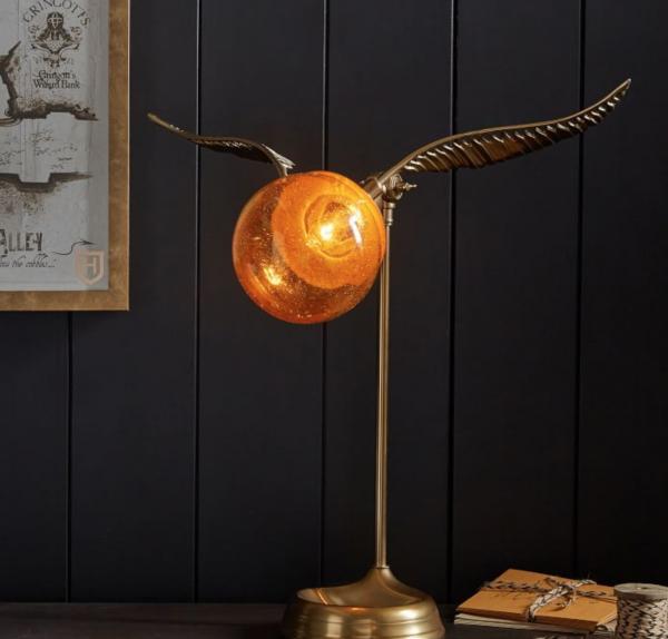 Harry Potter inspired kids bedroom golden snitch desk lamp momooze.com online magazine for moms