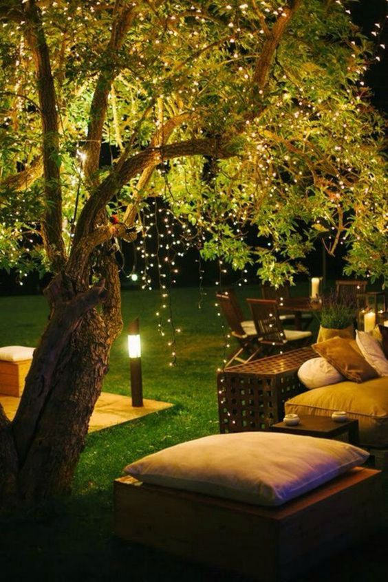 How to Decorate With Fairy Lights Outdoors