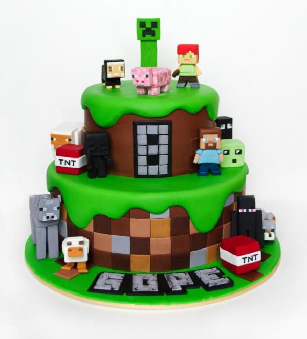 how to make minecraft cake at home