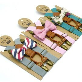 Matching Braces and Bow Tie Set