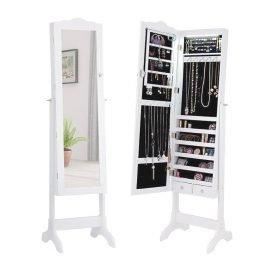 Jewelry Cabinet Mirror With Lockable Storage